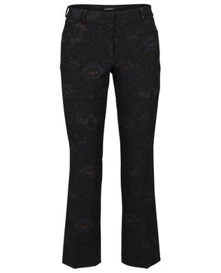 Felicity cropped straight fit floral crepe trousers CAMBIO