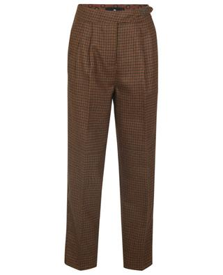 Checked wool carrot trousers ETRO