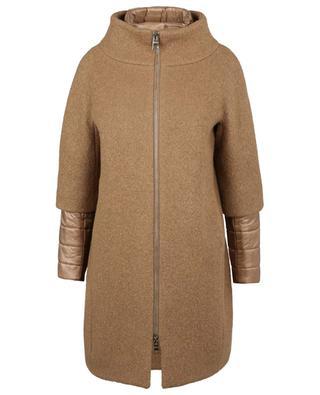 Manteau en laine bouclette à empiècements doudoune HERNO