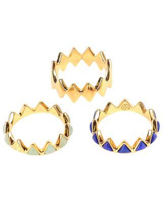Vergoldete stapelbare Ringe Puzzle TORY BURCH