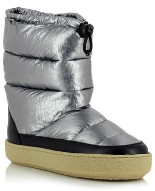Zerik metallic nylon and leather snow booties ISABEL MARANT