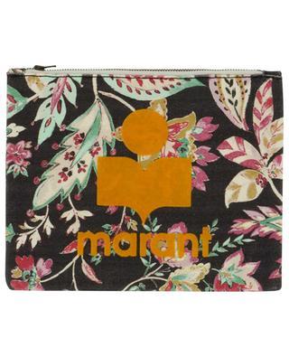 Pochette en toile imprimée fleurs Nettia ISABEL MARANT
