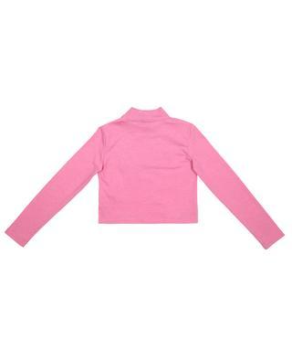 Crop T-shirt manches longues et logo en relief fille FENDI