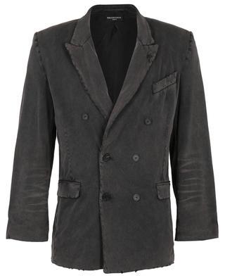 Doppelreihiger Blazer aus Jersey im Used-Look Slim Jacket BALENCIAGA