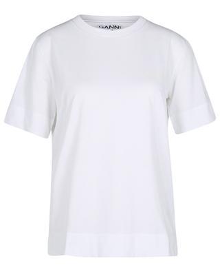 Thin Software logo printed short-sleeved T-shirt GANNI