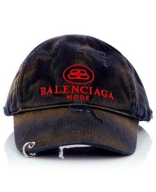 Baskeballkappe aus Gabardine BB Mode Destroyed Piercing BALENCIAGA