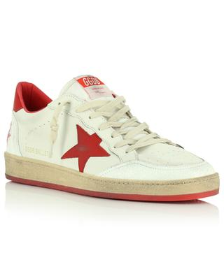 Ballstar grained leather low-top sneakers with red star GOLDEN GOOSE