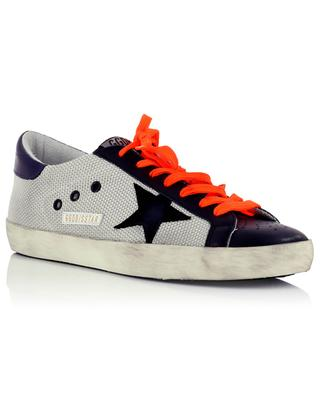 Superstar used-look lace-up leather sneakers GOLDEN GOOSE