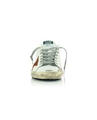 Super-Star leather lace-up sneakers with orange star GOLDEN GOOSE