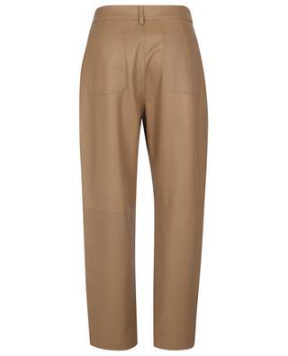 Pantalon carotte taille haute en cuir d'agneau RED VALENTINO