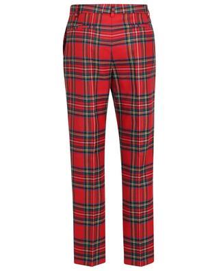 Pantalon droit à carreaux en laine Tartan RED VALENTINO