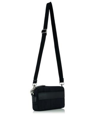 VLTN Times nylon jacquard and leather cross body bag VALENTINO
