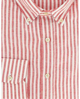 Chemise en lin à manches longues rayée Luxury Vintage LUIGI BORRELLI