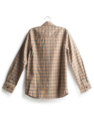 Owen Micro House Check boys' shirt BURBERRY