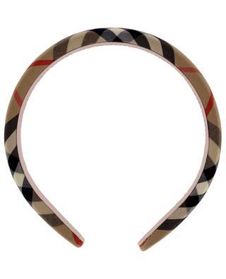 Checked girls' headband BURBERRY