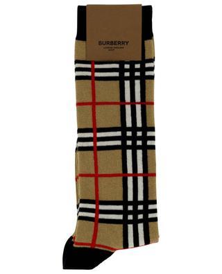Check girls' cotton socks BURBERRY