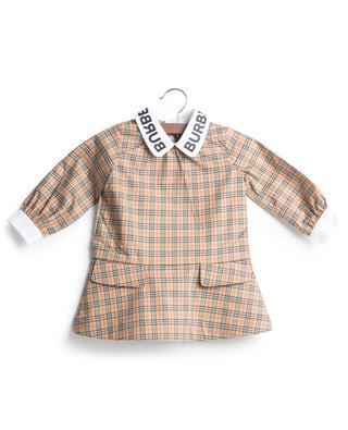 Kariertes Baby-Kleid aus Popeline Mini Alicia BURBERRY