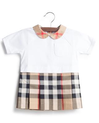 Veronica Update bi-material baby dress BURBERRY