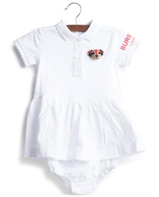 Emiko Bear baby polo dress with bloomers and application BURBERRY