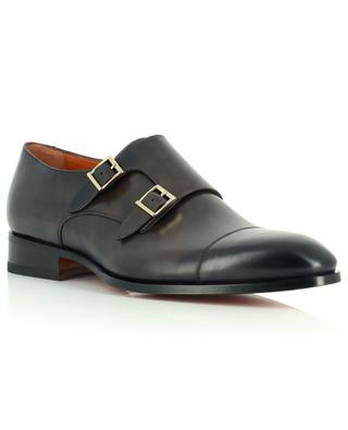 Monkstrap-Schuhe aus Glattleder SANTONI