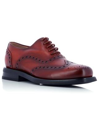 Perforated leather derby shoes SANTONI