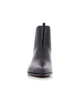 Shiny smooth leather Chelsea ankle boots SANTONI