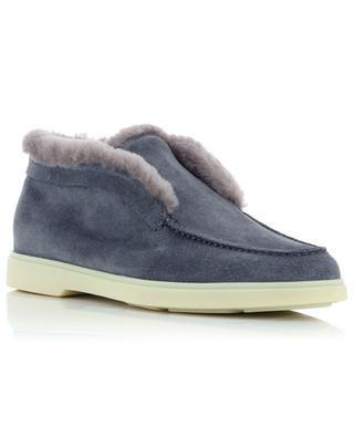 Yalta suede and fur loafers SANTONI