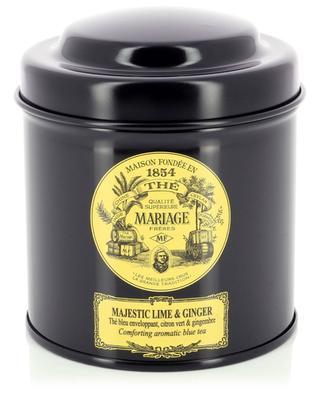 Thé bleu parfumé en vrac Majestic Lime & Ginger - 100 g MARIAGE FRERES