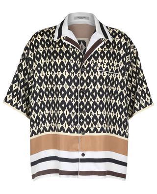 Chemise à manches courtes en soie imprimée Valentino Foulard Archive VALENTINO