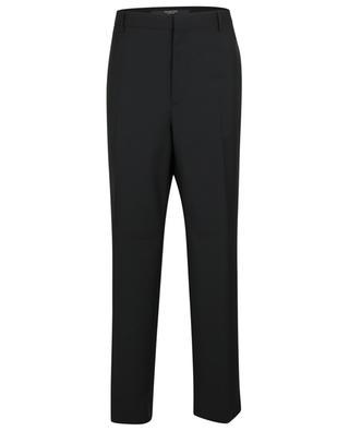 Pantalon droit en laine et mohair mélangés VALENTINO