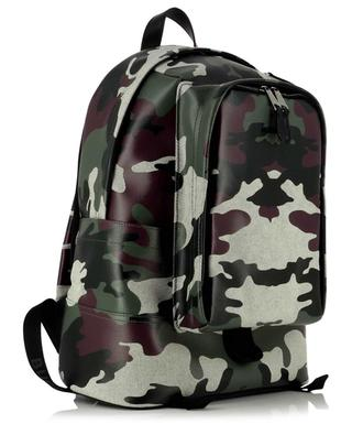 Jack camouflage patterned coated canvas backpack BURBERRY