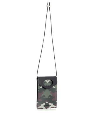 Umhängetasche aus Leder und Canvas Pocket Phone Case Mangrove BURBERRY