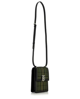 Robin checked fabric and leather shoulder bag BURBERRY