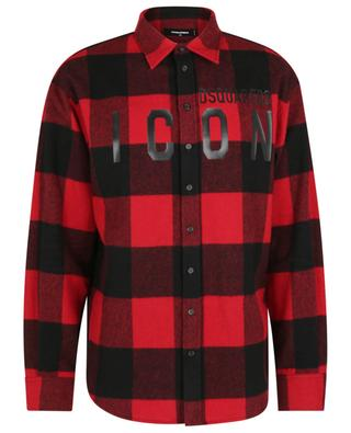 ICON checked flannel overshirt DSQUARED2