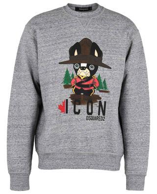 Bulldog Icon printed crewneck sweatshirt DSQUARED2
