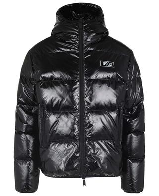 DSQ2 glossy ripstop puffer jacket with hood DSQUARED2