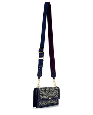 T Monogram Mini jacquard shoulder bag TORY BURCH