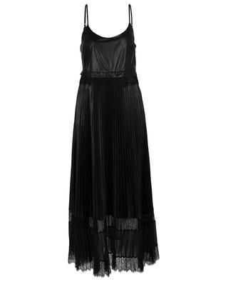 Langes plissiertes Trägerkleid aus Kunstleder TWINSET