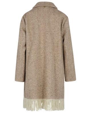 Fringed short coat TWINSET