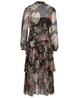 Robe longue en mousseline fleurie à volants TWINSET