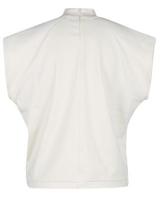 Boxy-T-Shirt aus Bio-Baumwolle Verona SL High-Neck Vanilla Ice REMAIN BIRGER CHRISTENSEN