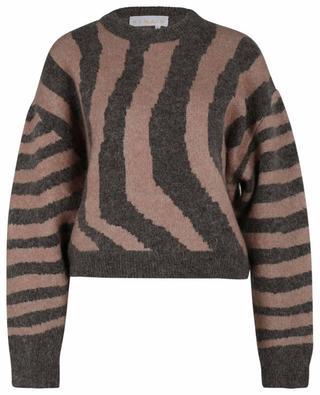 Boxy-Pullover aus Wolle und Mohair Cami Zebra REMAIN BIRGER CHRISTENSEN