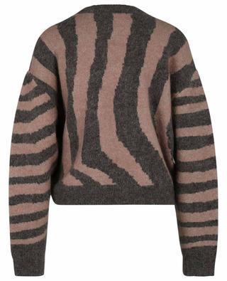 Pull boxy en laine et mohair Cami Zebra REMAIN BIRGER CHRISTENSEN