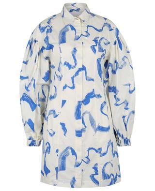 Mini robe chemise en coton bio Gemma Palace Blue Comb REMAIN BIRGER CHRISTENSEN