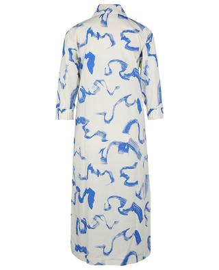 Silja Palace Blue Comb straight-fit organic cotton shirt dress REMAIN BIRGER CHRISTENSEN