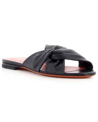 Flat knotted nappa leather slides SANTONI
