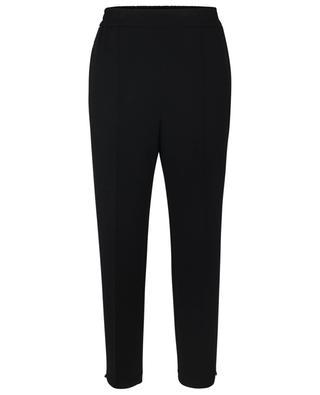 Slim-Fit-Hose aus Woll-Jersey Floris AKRIS PUNTO