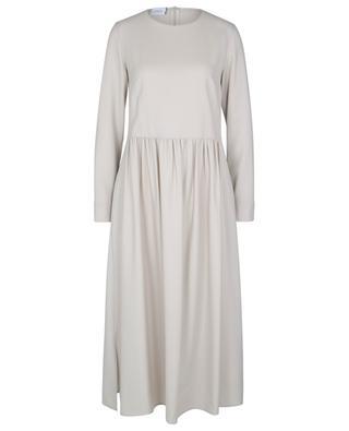 Robe longue ample en sergé de laine AKRIS PUNTO