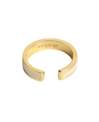 Bague ouverte en métal doré émaillé Bangle BANGLE UP