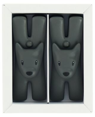 Zwei schwarze magnetische Notizklammern im Set Giampo ALESSI
